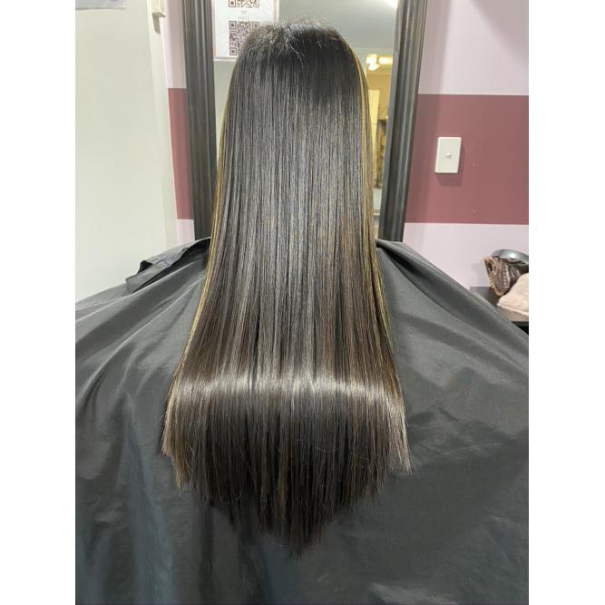 Keratin infused hair